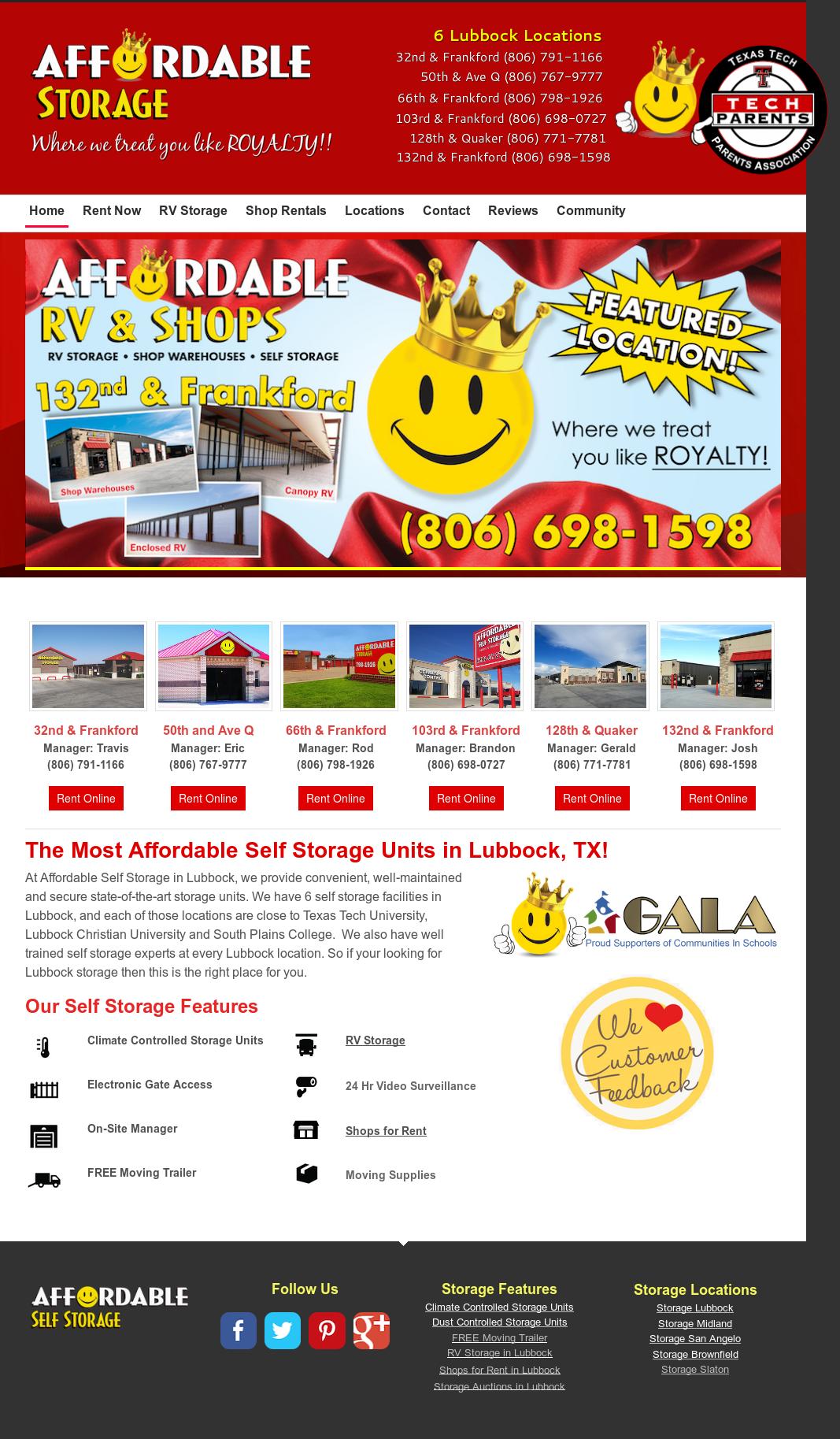 Affordable Self Storage Lubbocku0027s Website Screenshot On Feb 2017