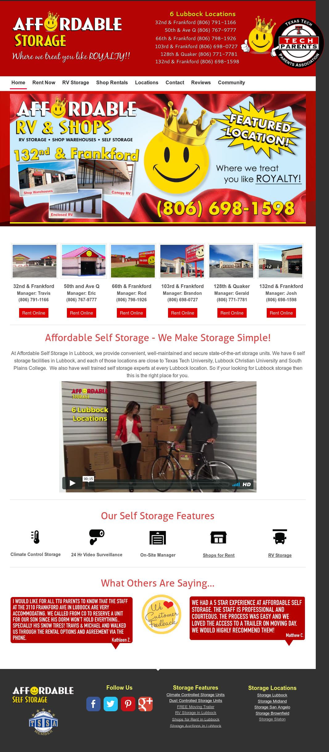 Affordable Self Storage Lubbocku0027s Website Screenshot On Jun 2017