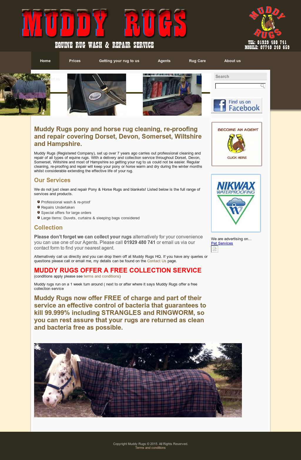 Muddy Rugs Horse Rug Cleaning Dorset Website History