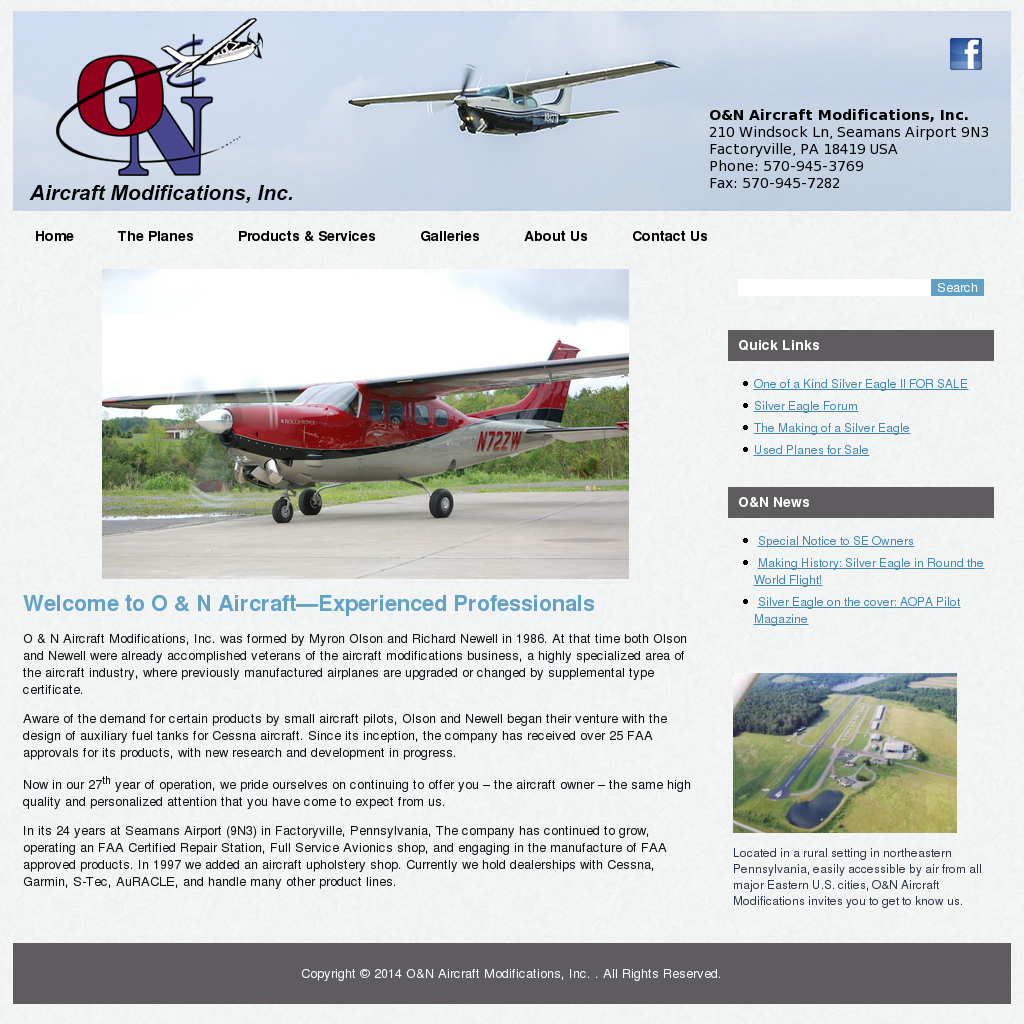 O & N Aircraft Modifications Competitors, Revenue and