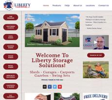 Liberty Storage Solutionsu0027s Website Screenshot On Jun 2017
