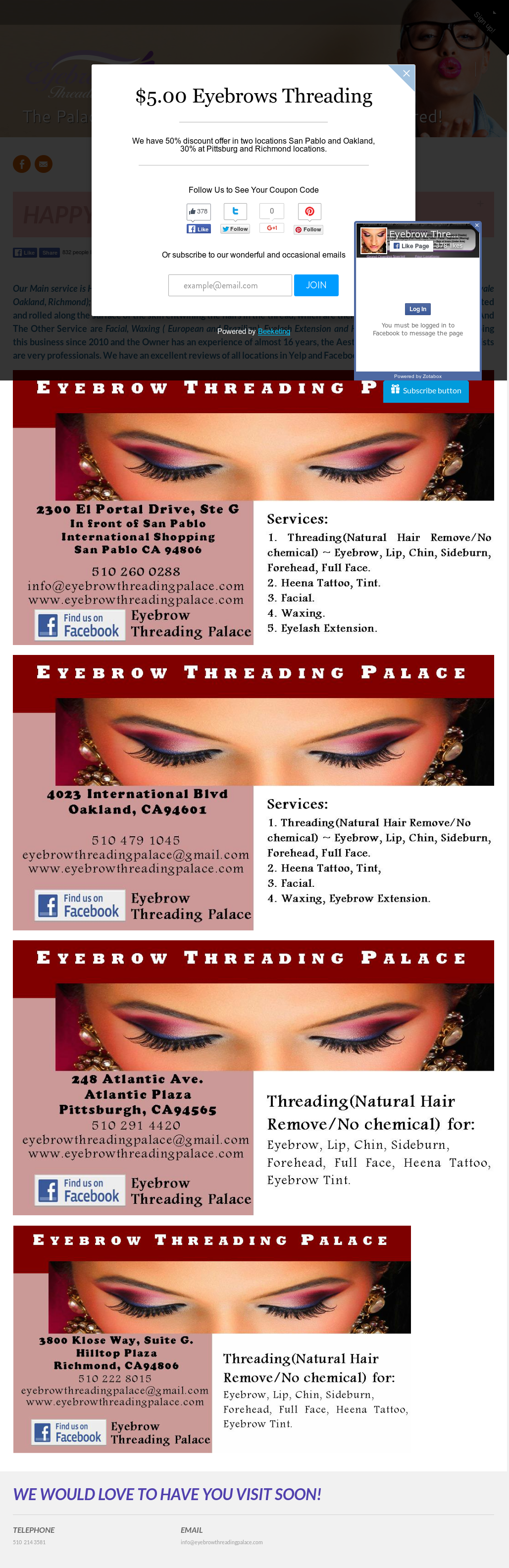 Eyebrow Threading Palace Competitors Revenue And Employees Owler