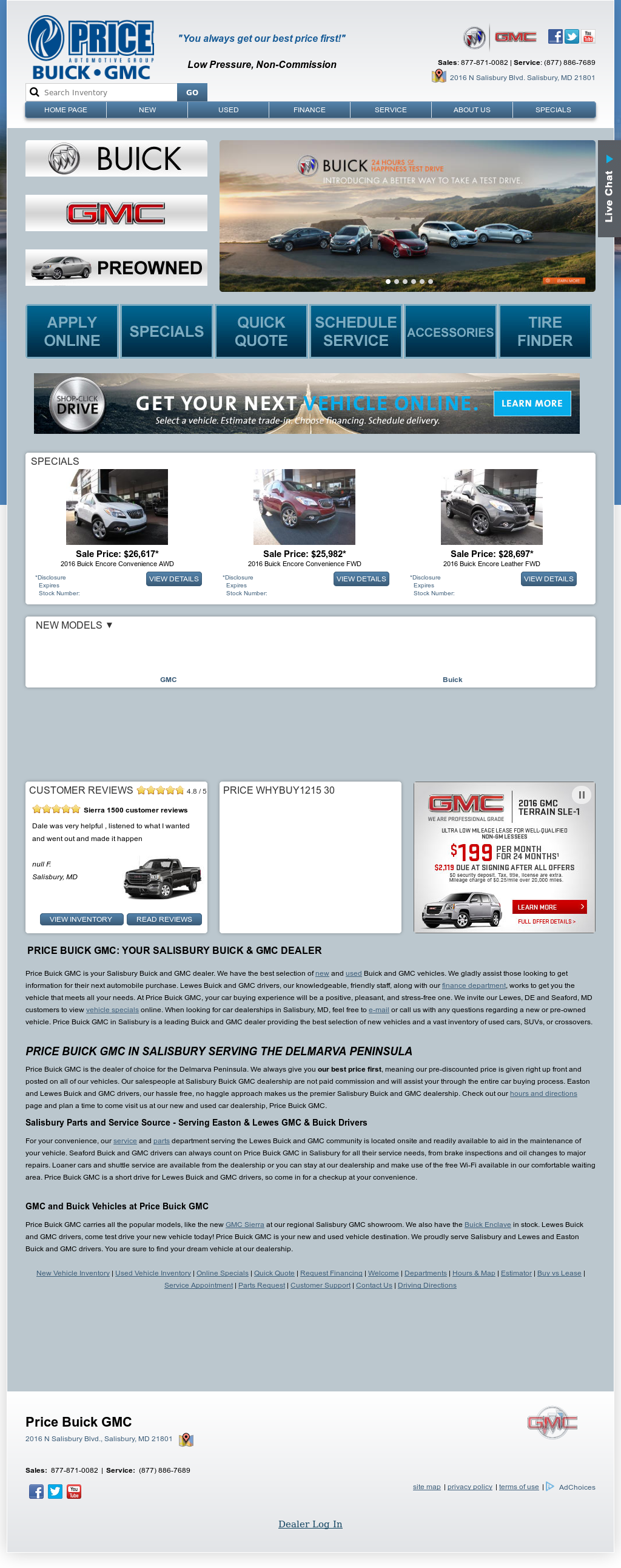 htm store index salisbury buick serving car price used cars inventory md the delmarva