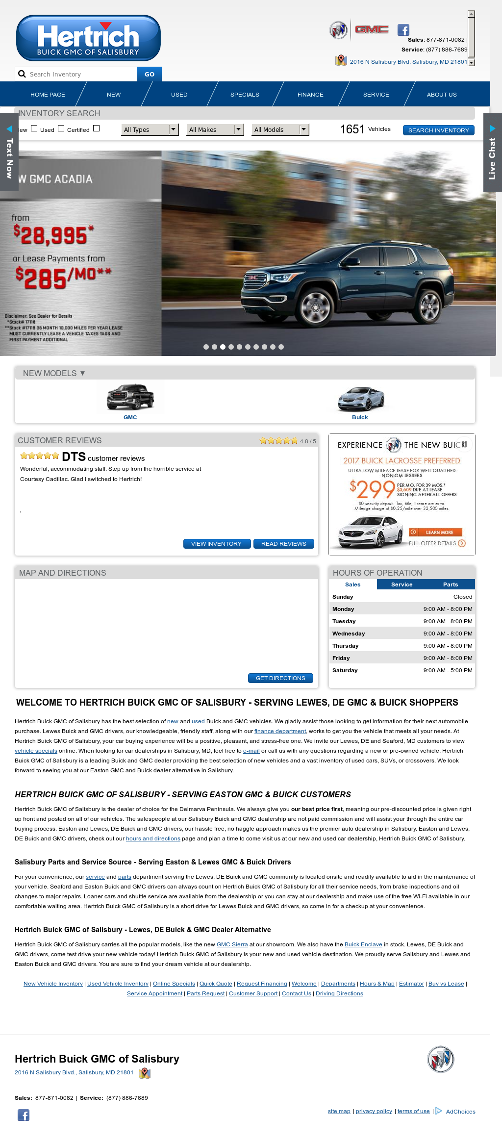 inc gmc brothers crisfield cars dealers sale price at img acadia salisbury and used md for in tawes buick new