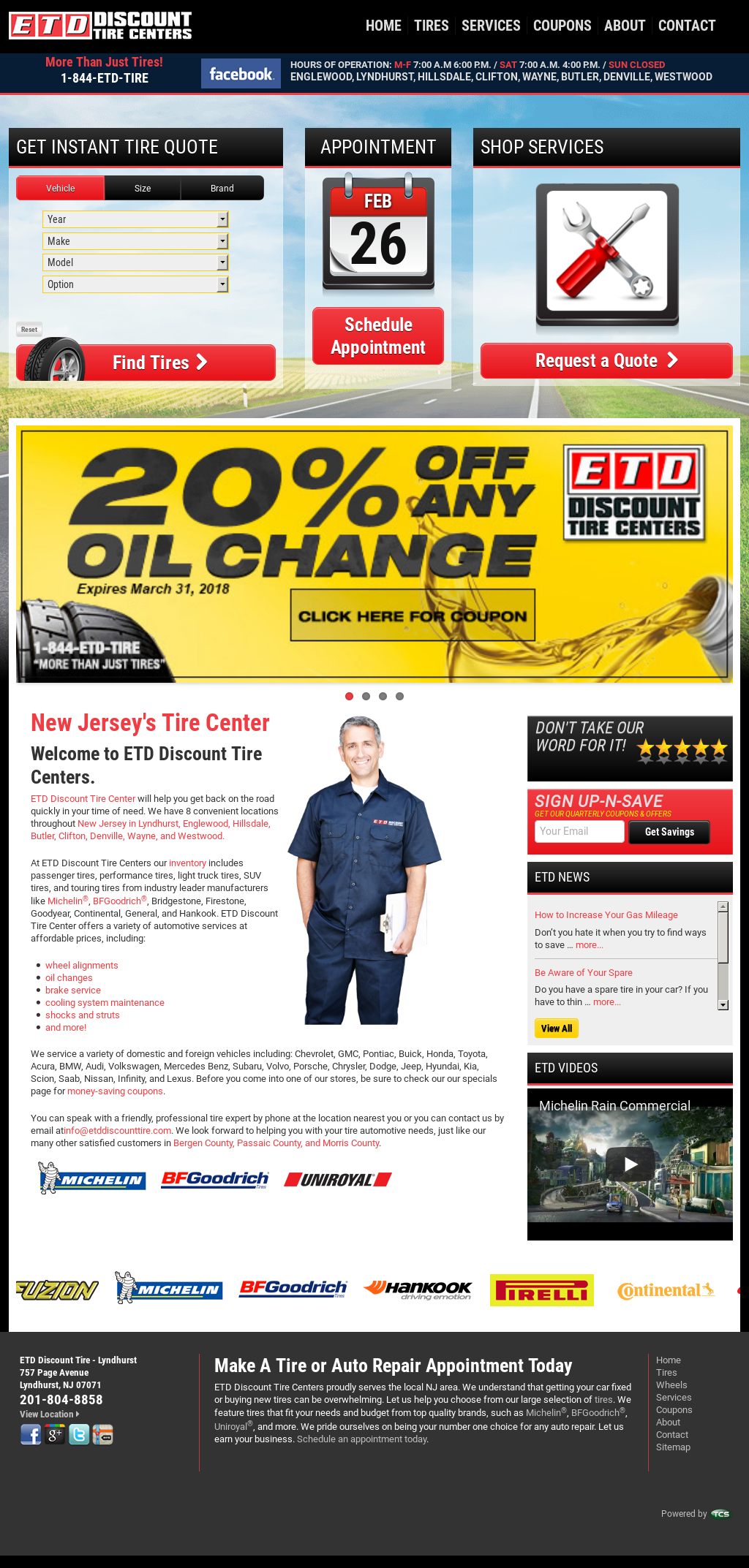 Etd Discount Tire Centers Competitors Revenue And Employees Owler