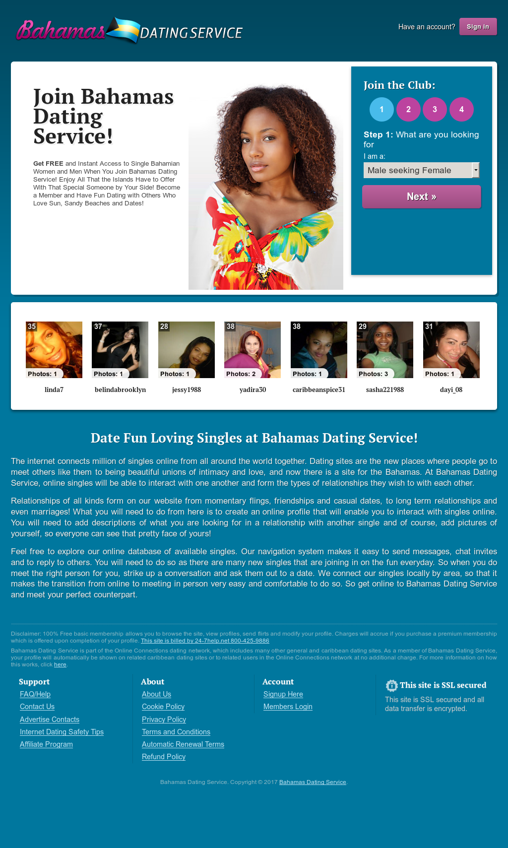 Bahamas Dating Service