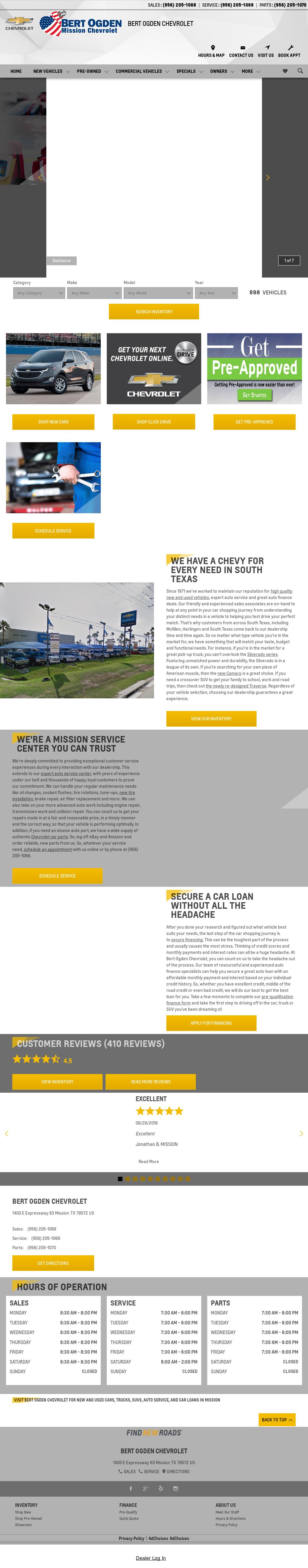 Bert Ogden Chevrolet Website History