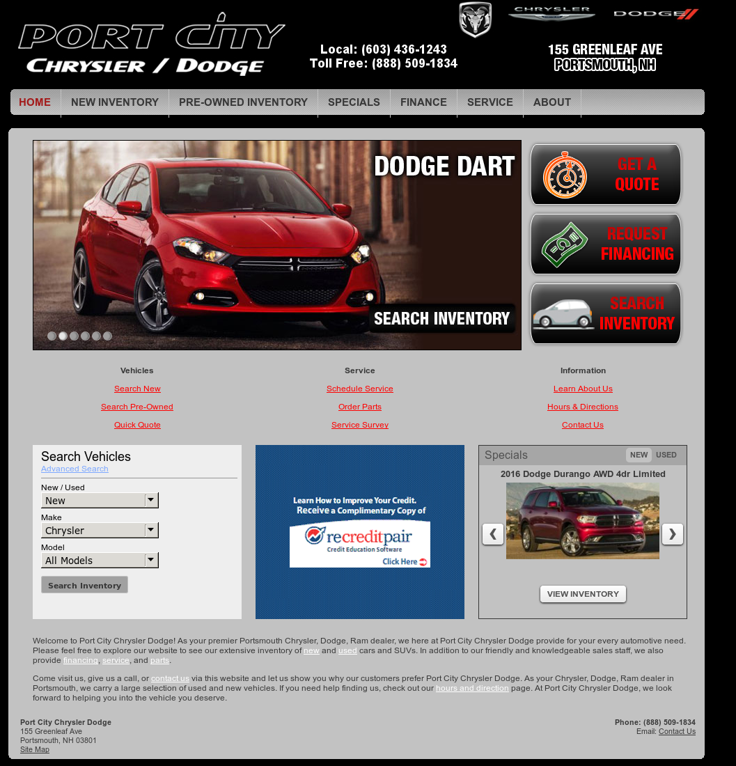 Port City Dodge >> Port City Chrysler Dodge Competitors Revenue And Employees
