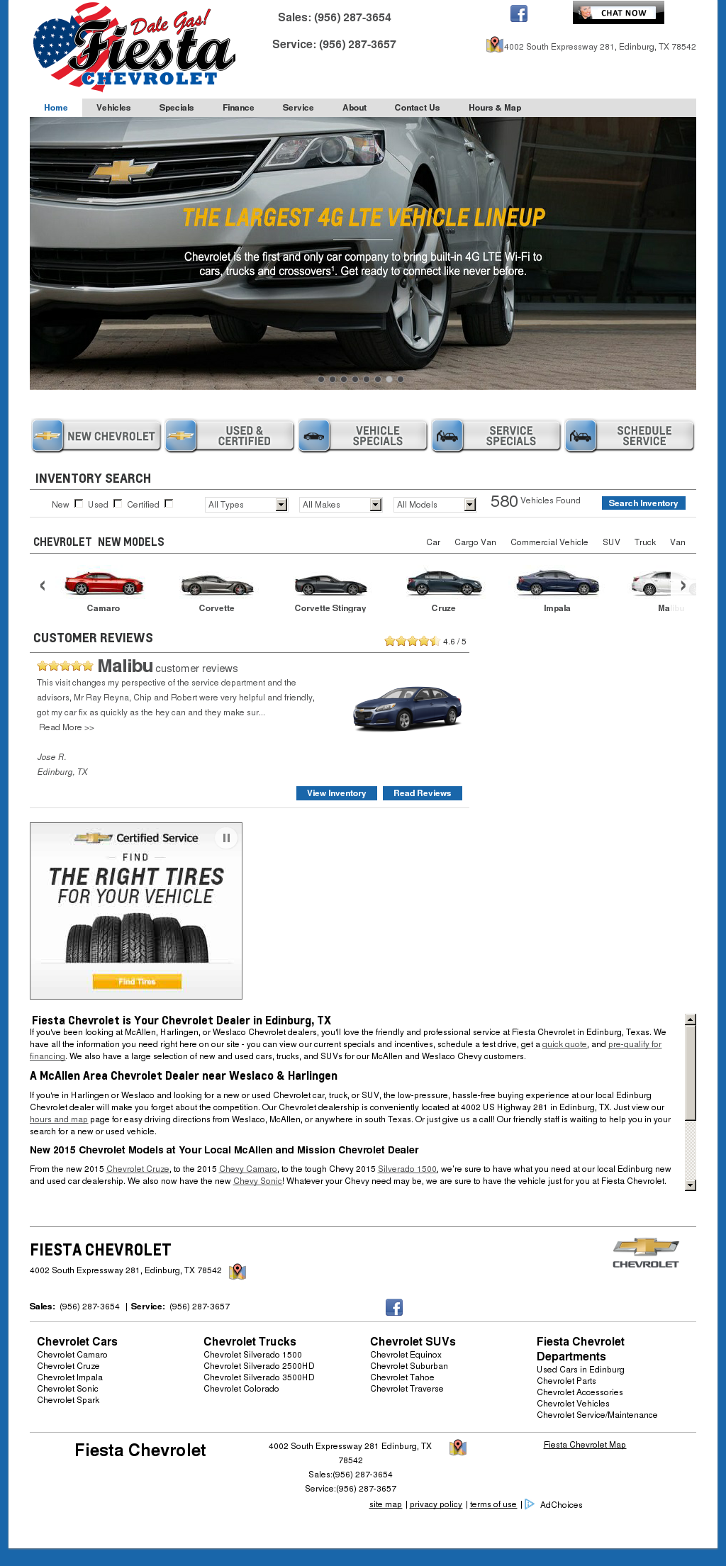 Fiesta Chevrolet Website History