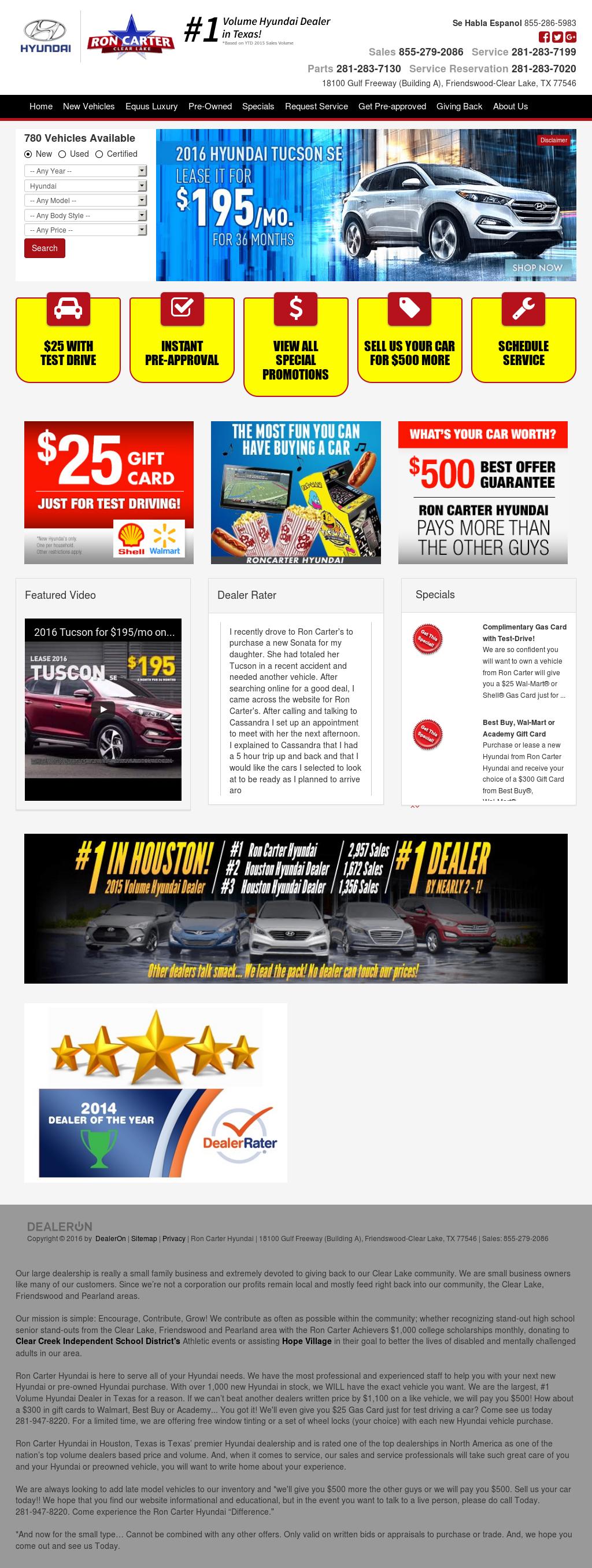 Ron Carter Hyundai petitors Revenue and Employees Owler