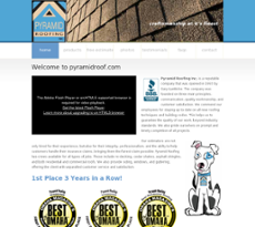 Pyramid Roofing Website History