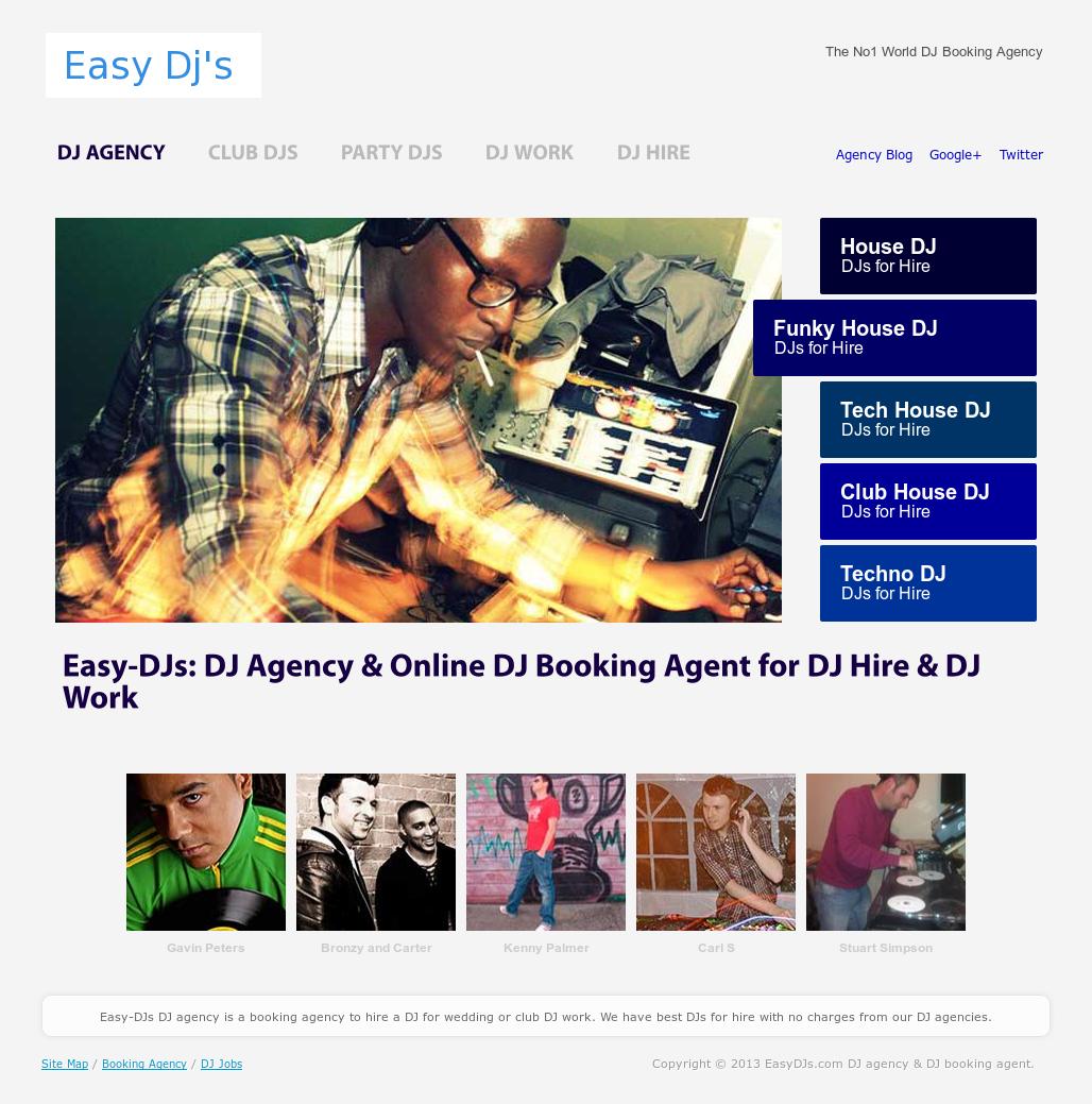 Easydjs com Dj Agency & Dj Booking Agent Competitors, Revenue and