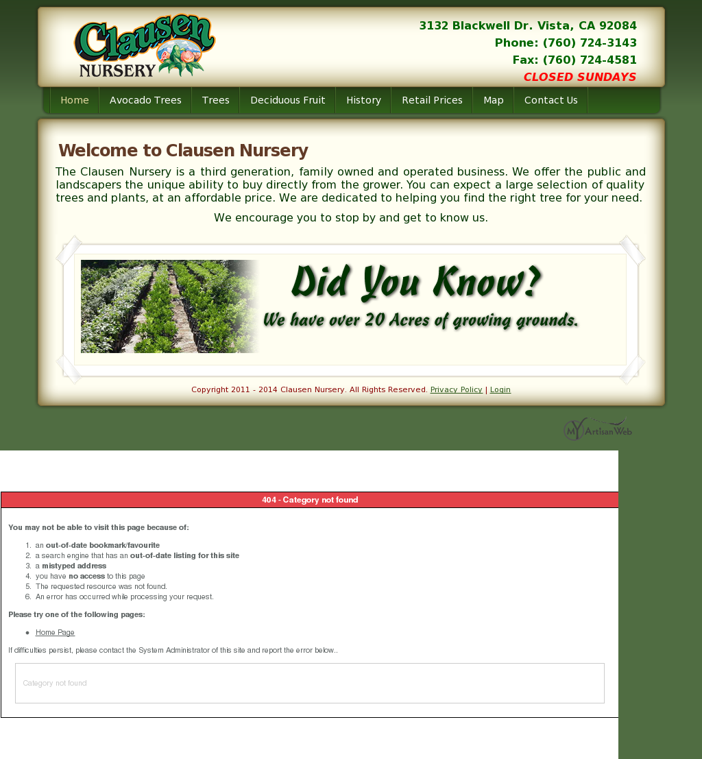 Clausen Nursery Compeors Revenue And Employees Owler Company Profile