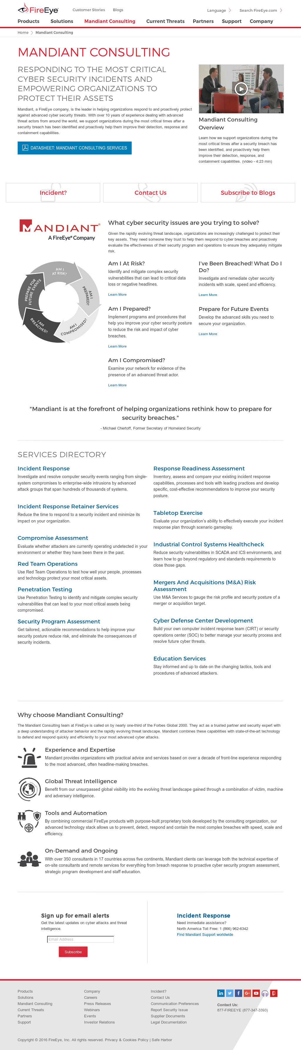 Mandiant, A Fireeye Company Competitors, Revenue and