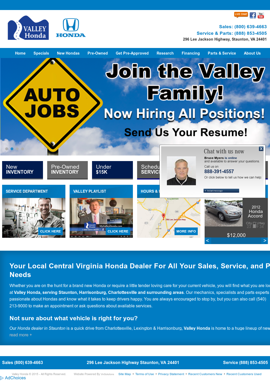 Valley Honda Of Staunton Competitors, Revenue And Employees   Owler Company  Profile