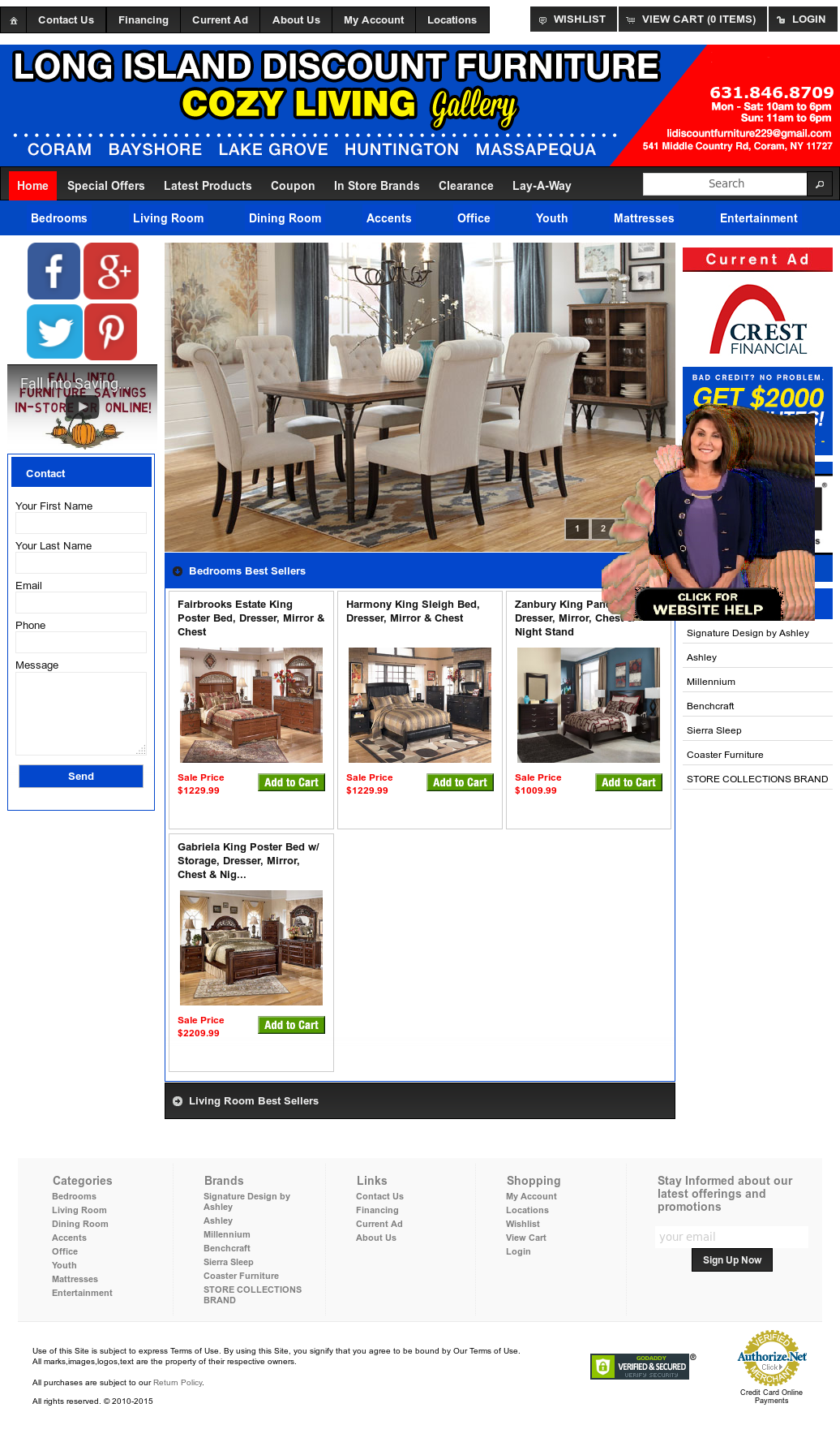 Long island discount furniture cozy living company for Cheap furniture sites
