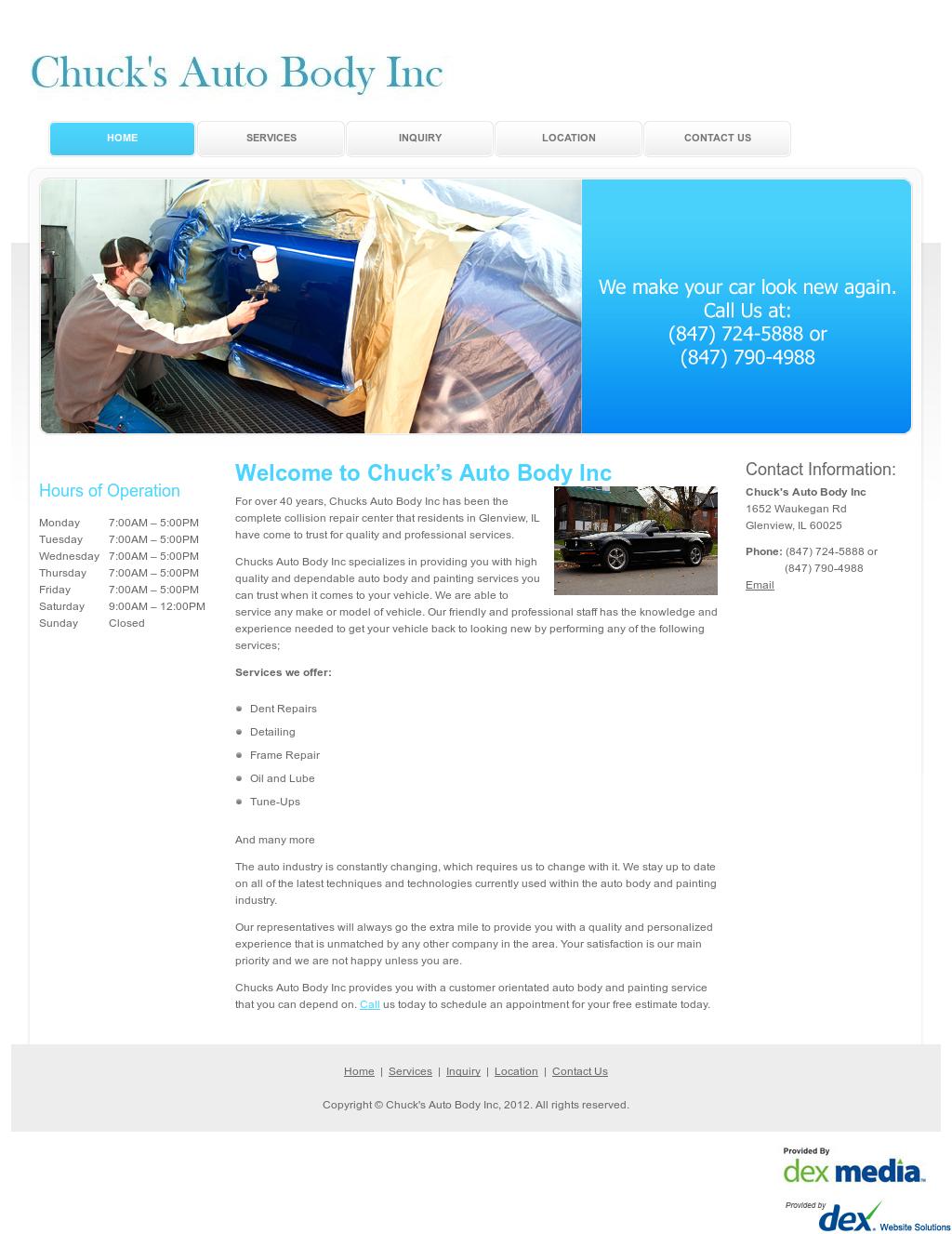 Chucks Auto Body >> Chuck S Auto Body Competitors Revenue And Employees Owler