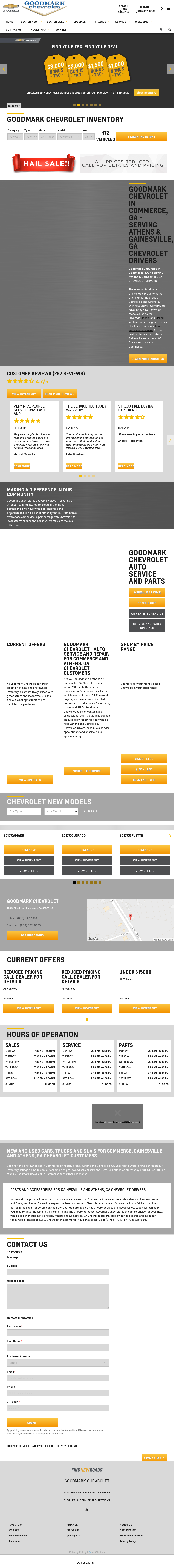 Goodmark Chevrolet Website History