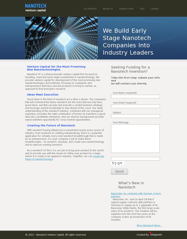 Nanotech Venture Capital Competitors, Revenue and Employees
