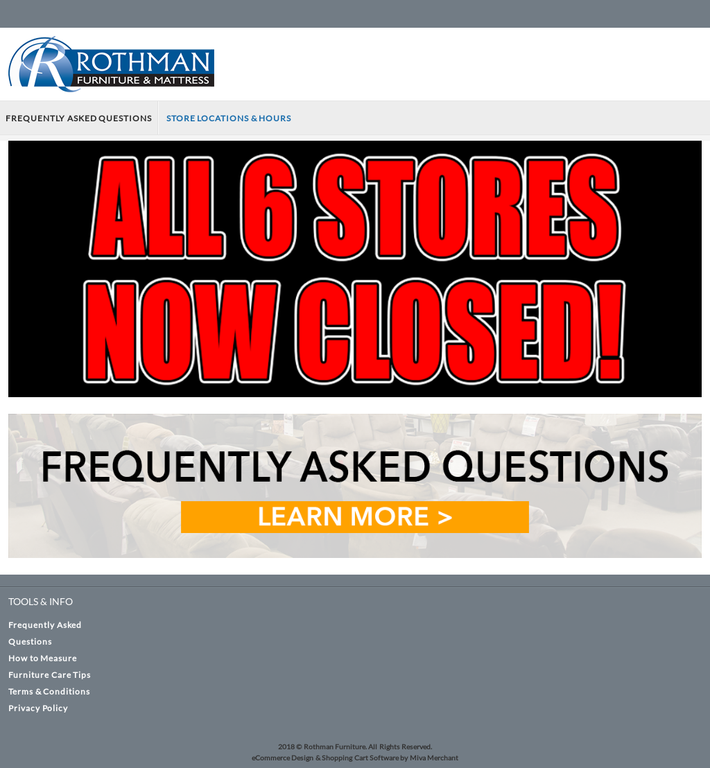 Rothman Furniture Website History
