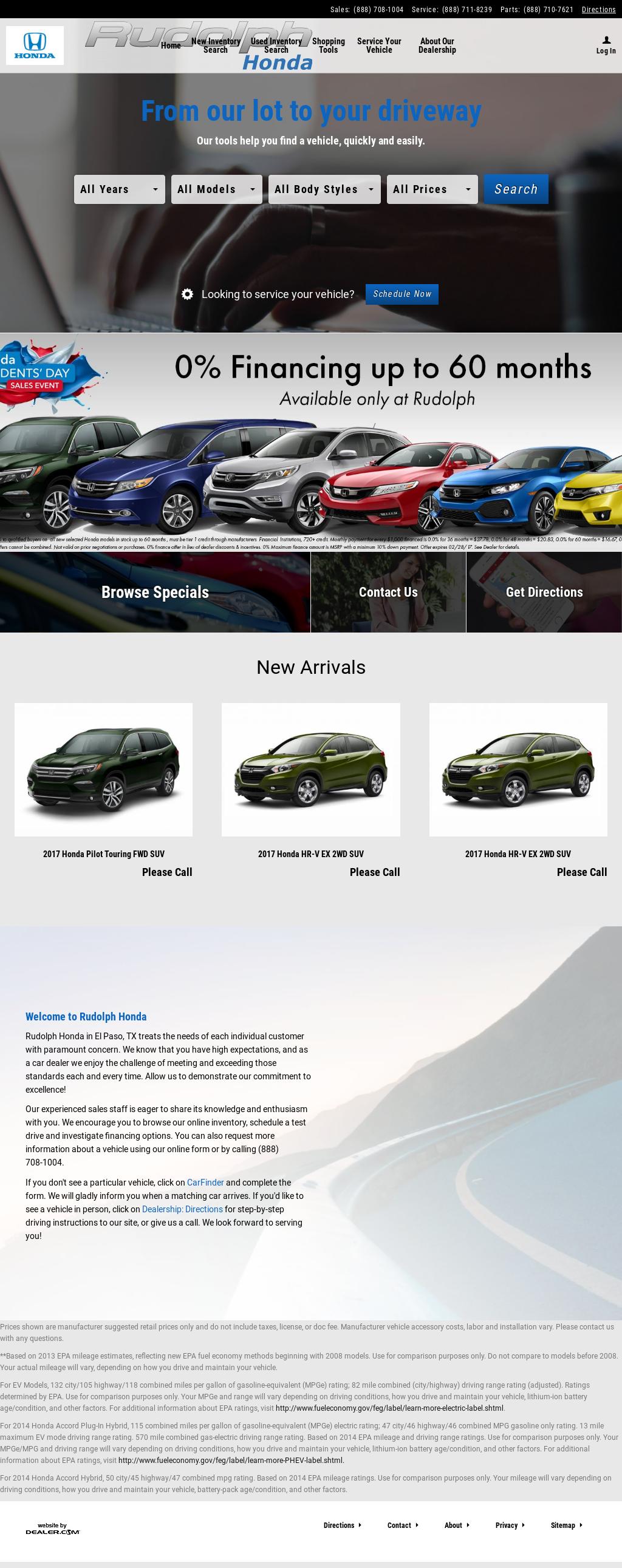 Rudolph Honda Website History