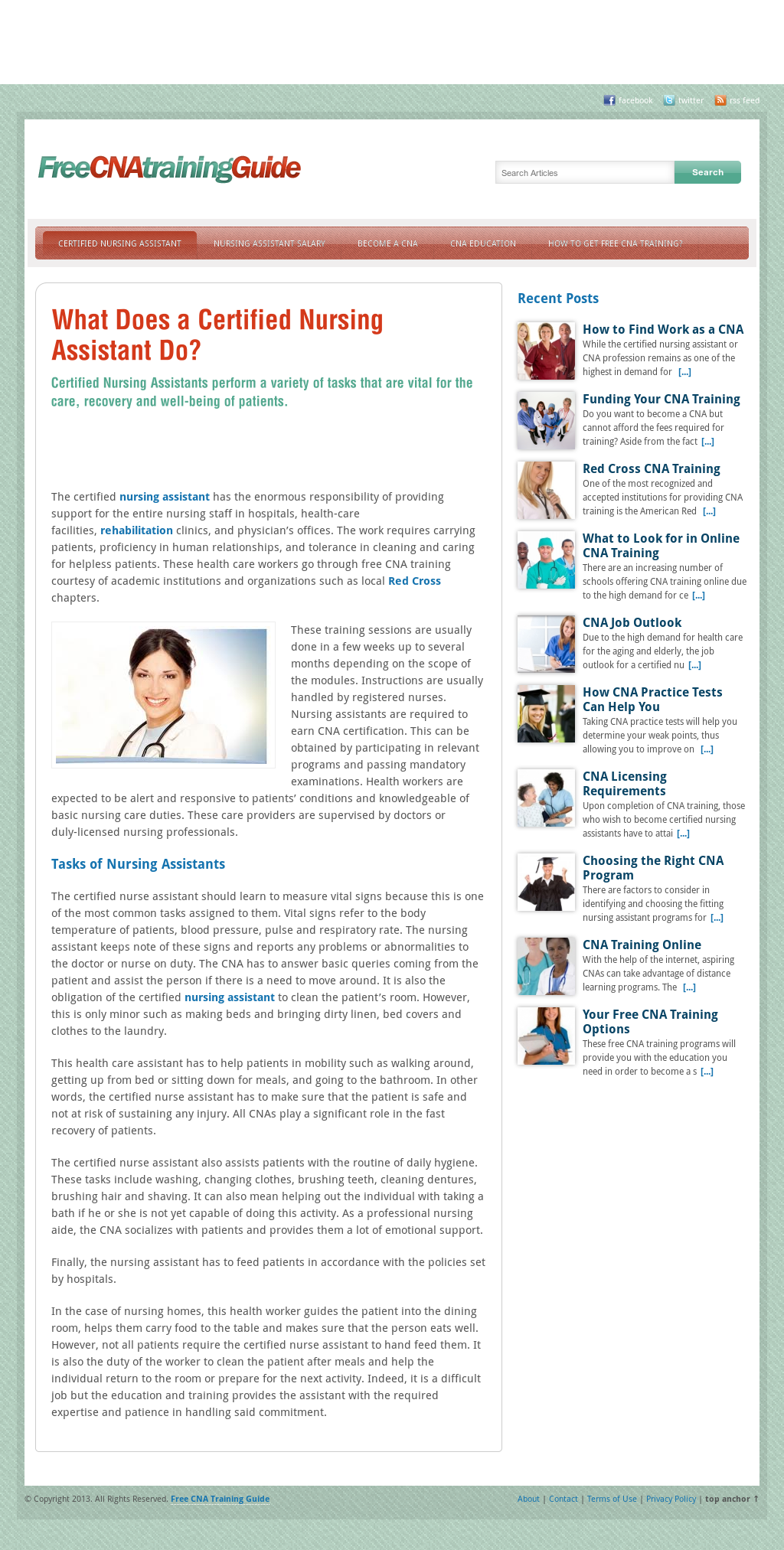 Free Cna Training Guide Competitors Revenue And Employees Owler