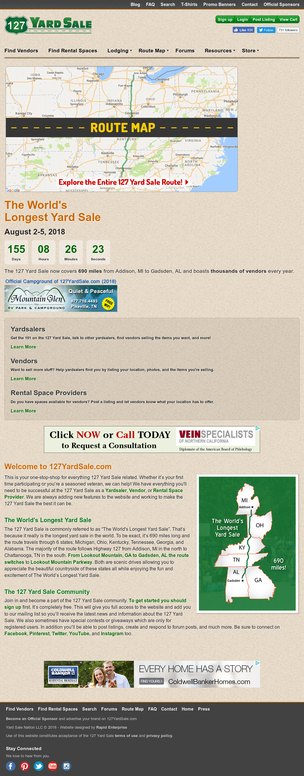 127 Yard Sale - The World's Longest Yard Sale Competitors