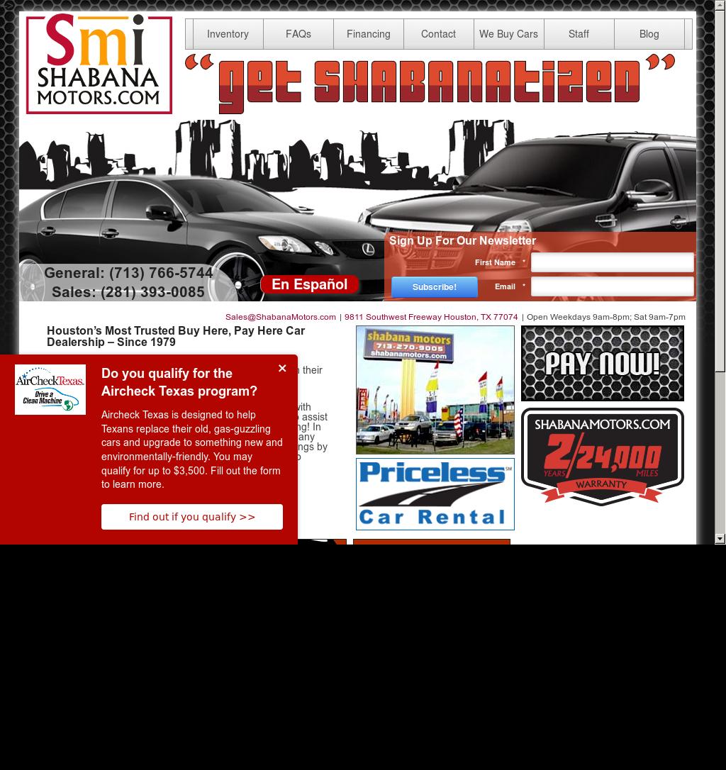Shabana Motors Houston Texas