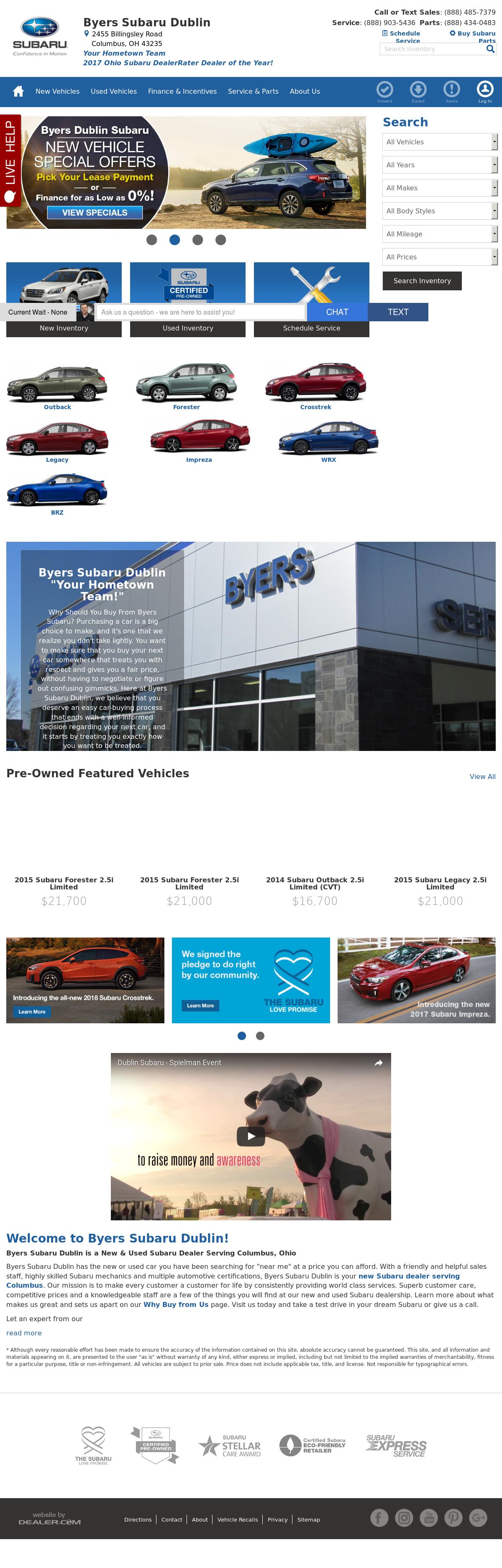 Byers Dublin Subaru petitors Revenue and Employees Owler