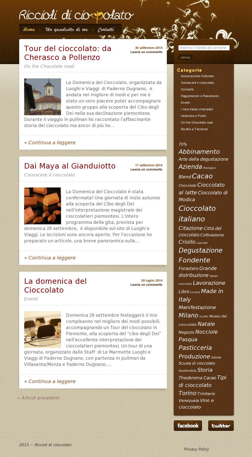 conoscere il cioccolato