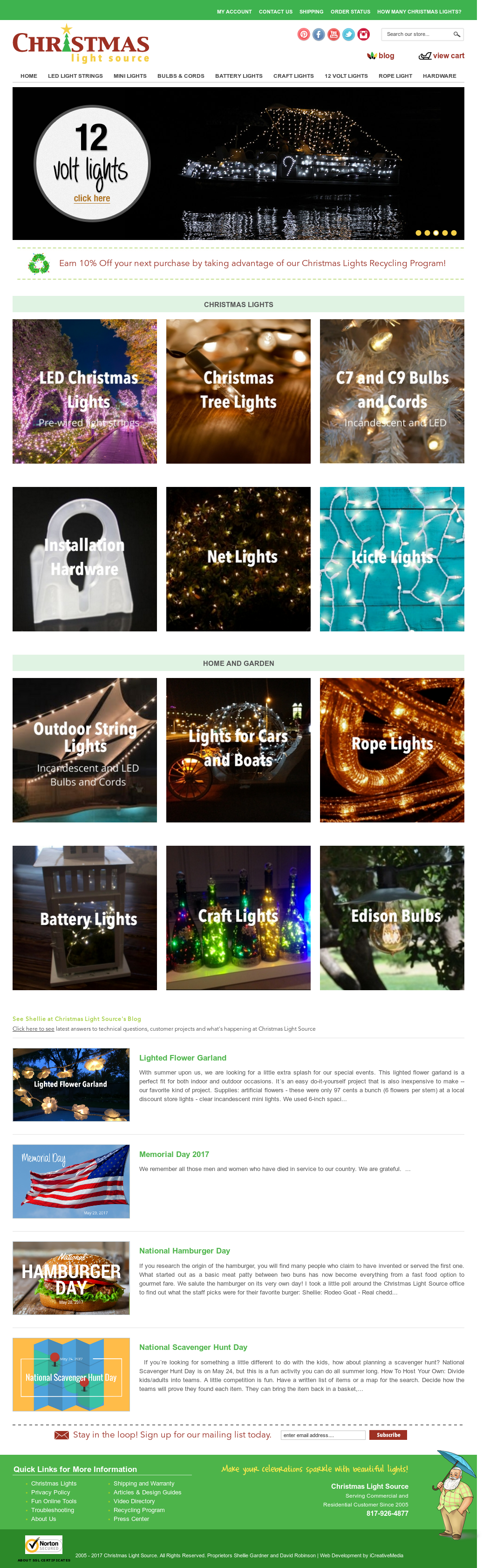 Christmas Light Source Website History