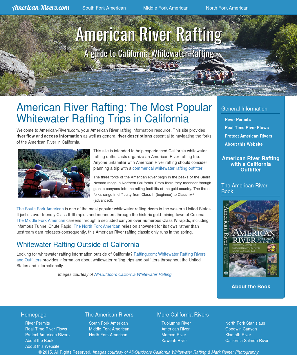 All-outdoors California Whitewater Rafting Competitors, Revenue and