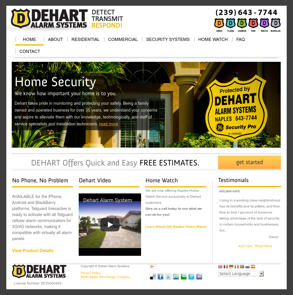 Dehart Alarm Systems Competitors, Revenue and Employees