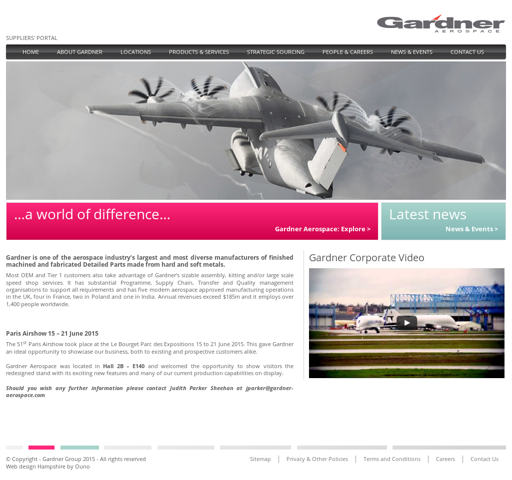 Gardner aerospace company profile revenue number of for Gardner website