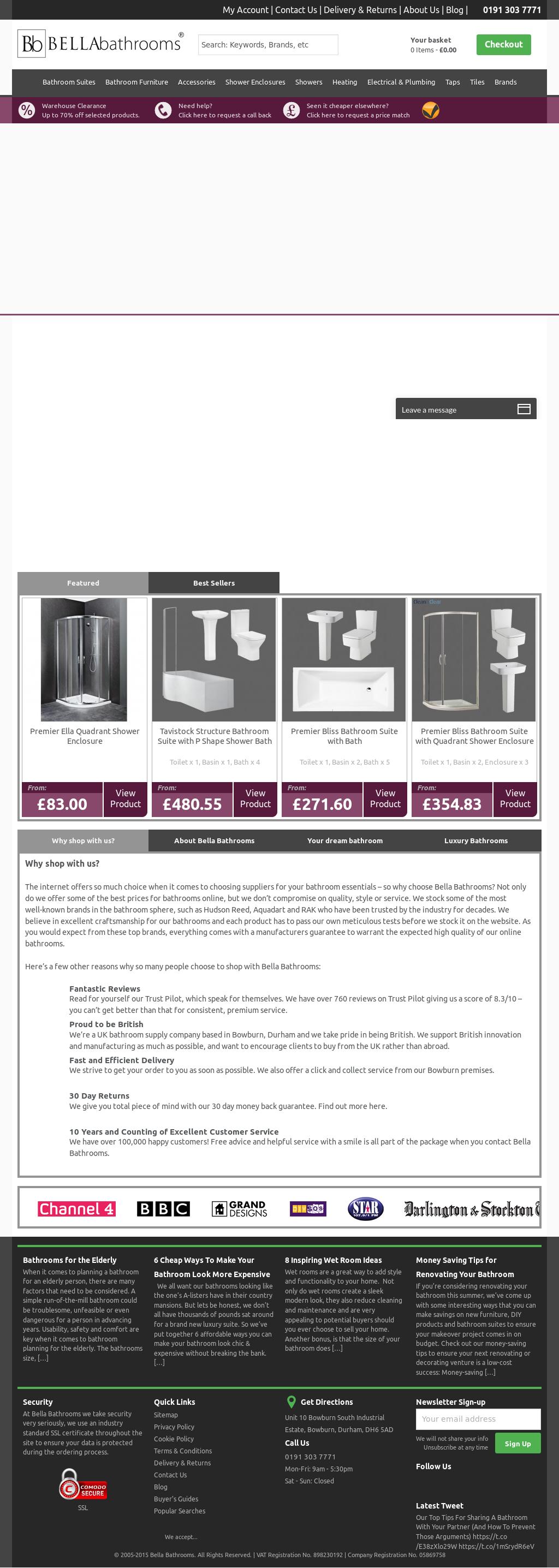 Bella bathrooms company profile revenue number of for Bella bathrooms