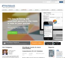 PitchBook website history