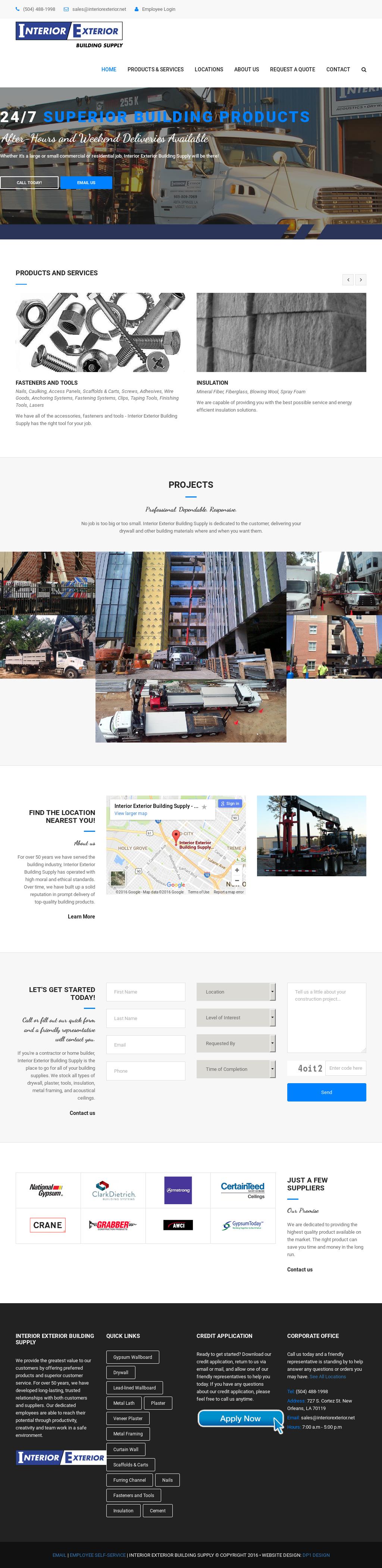 Interior Exterior Building Supply Website History