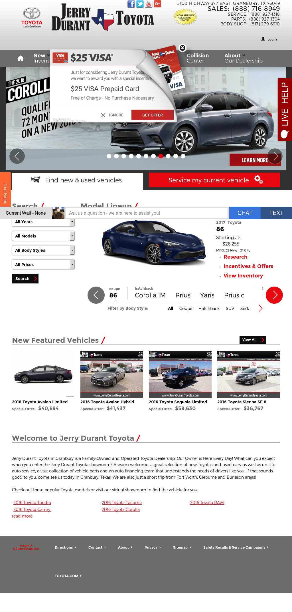 Jerry Durant Toyota petitors Revenue and Employees Owler