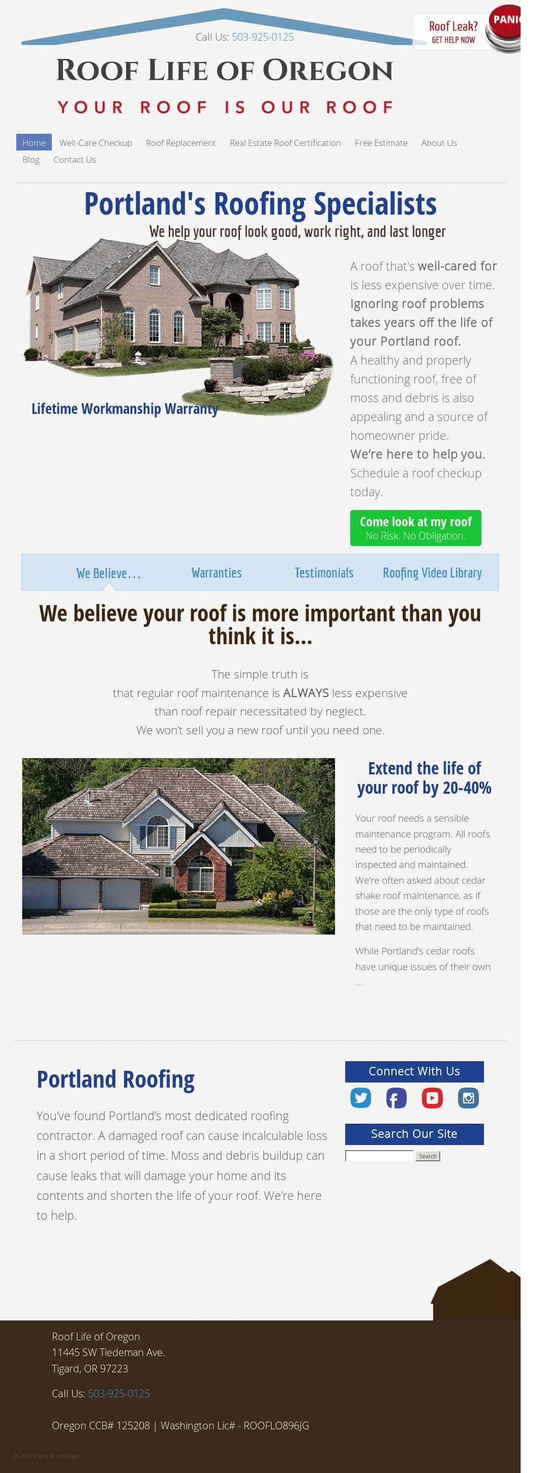 1st oregon exteriors website history - Roof Life Of Oregon