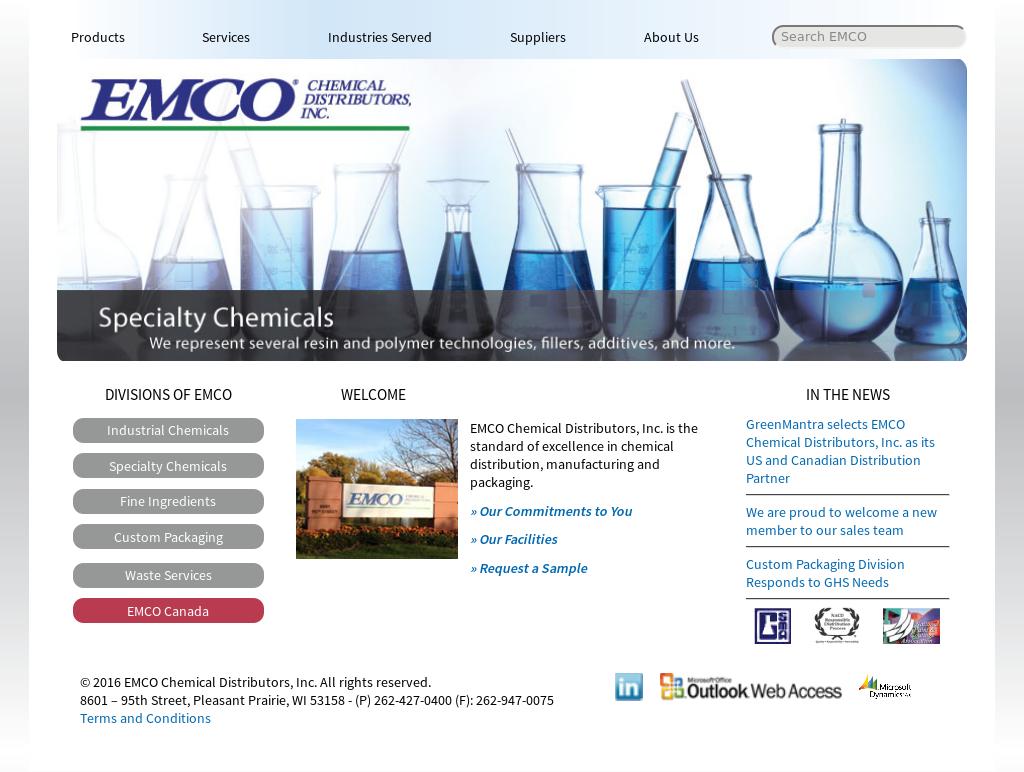 EMCO Chemical Distributors Competitors, Revenue and