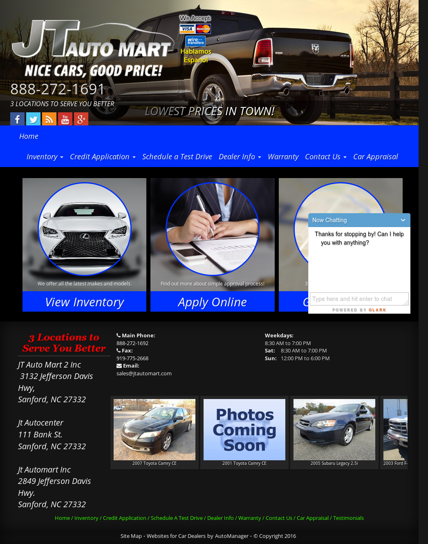 Jt Auto Mart >> Jt Auto Mart Competitors Revenue And Employees Owler