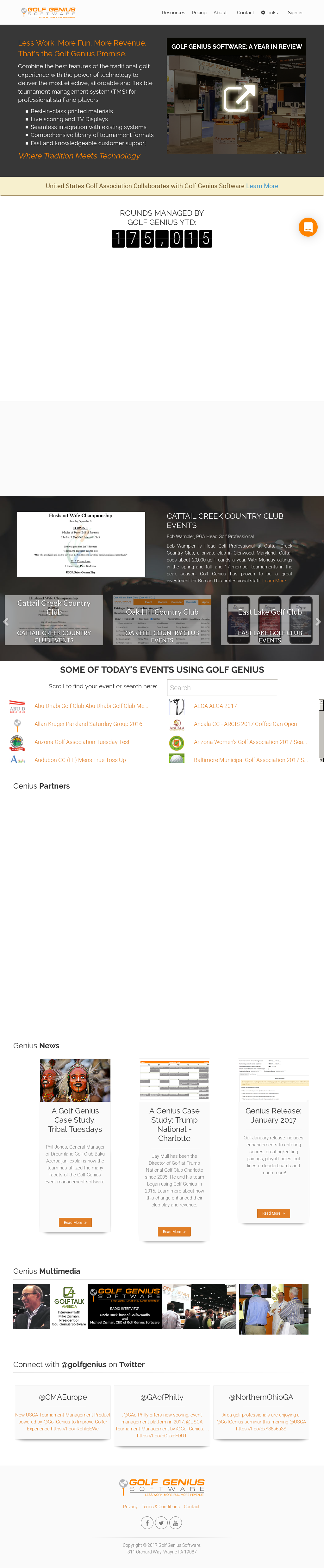 Golf Genius Software Competitors, Revenue and Employees
