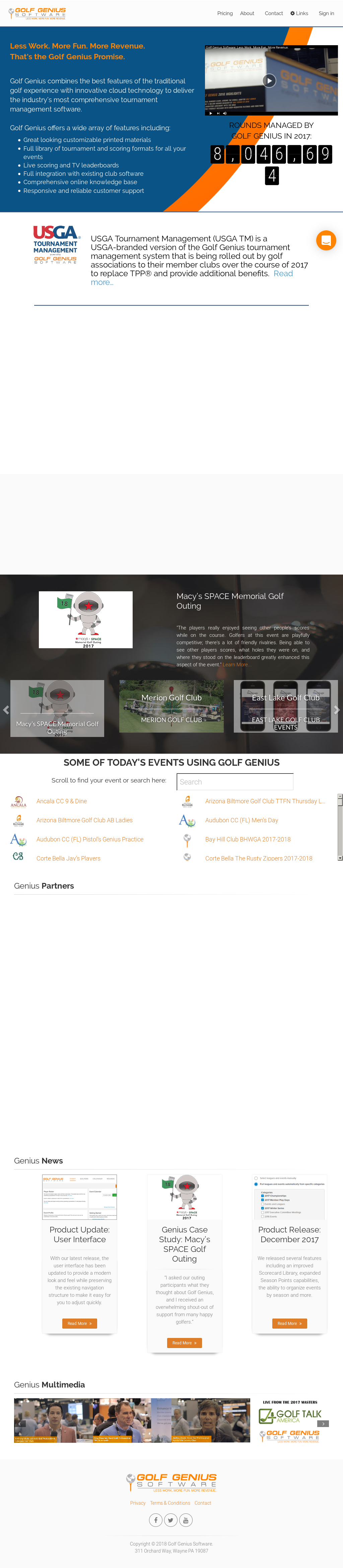 Golf Genius Software Competitors, Revenue and Employees - Owler