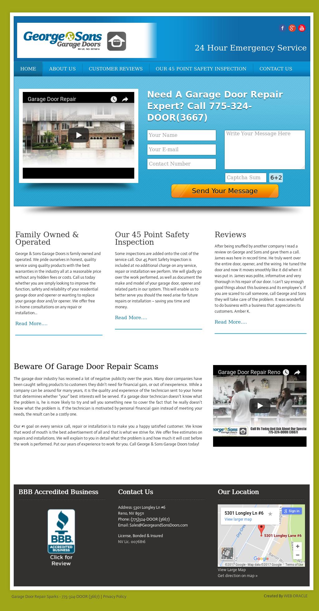 Garagedoorrepairsparks Competitors Revenue And Employees Owler