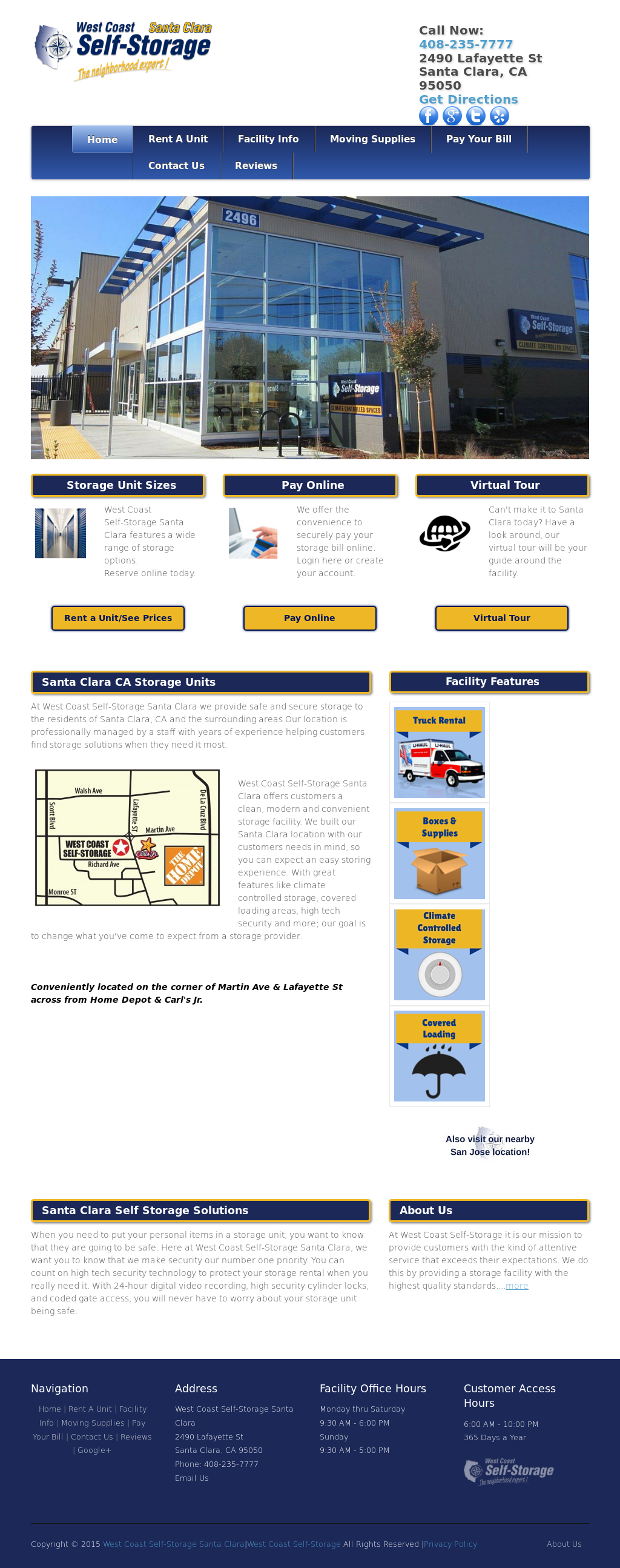 Attrayant West Coast Self Storage Santa Clara Website History