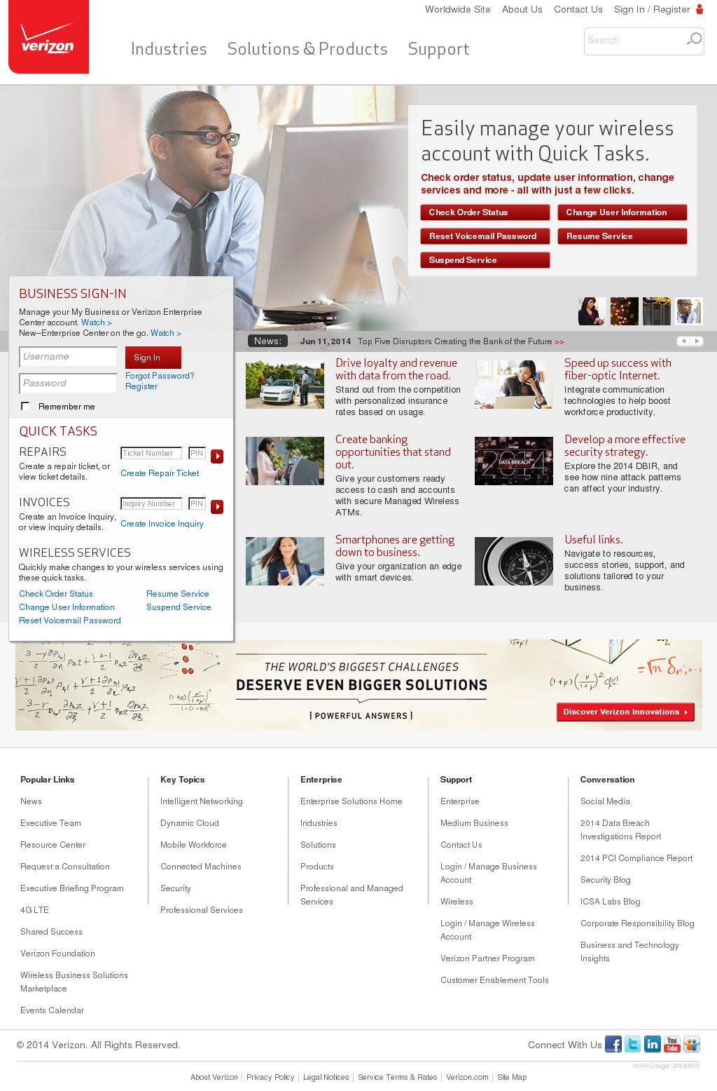 Verizon Enterprise Competitors, Revenue and Employees