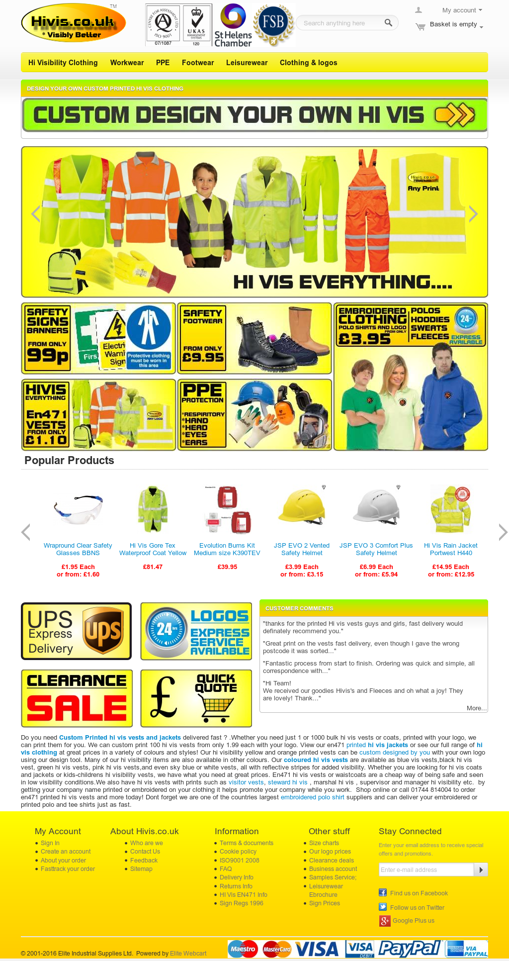 Hivis co uk Workwear Competitors, Revenue and Employees