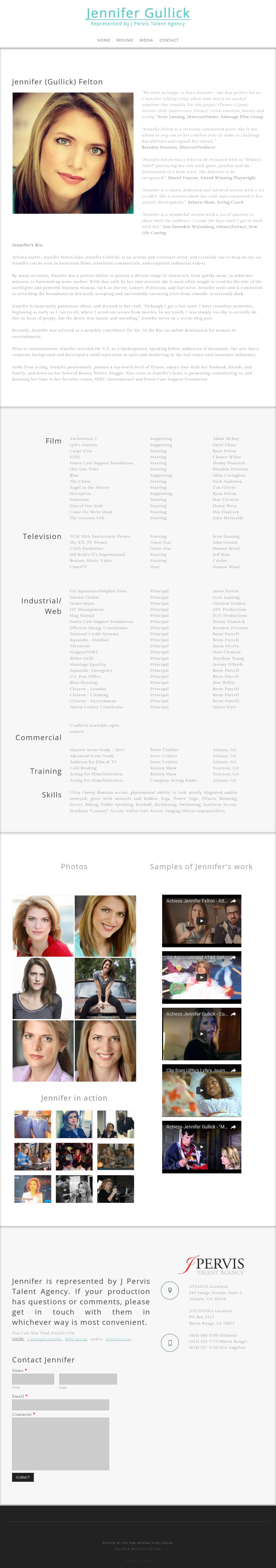Jennifer Felton - Actress Competitors, Revenue and Employees