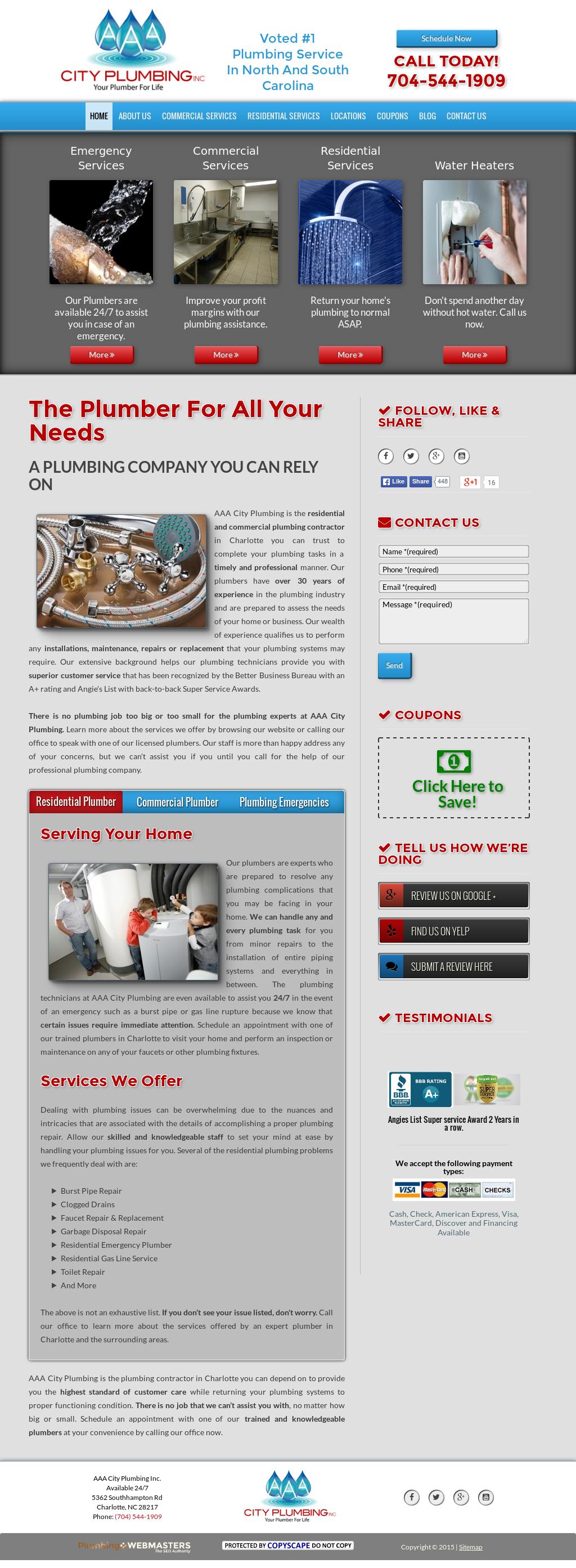 Aaacityplumbing Compeors Revenue And Employees Owler Company Profile