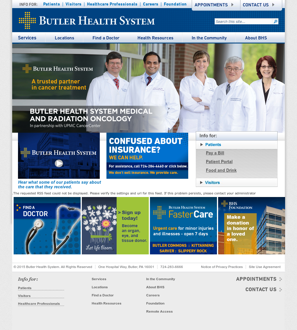 Butler Health System Competitors, Revenue and Employees